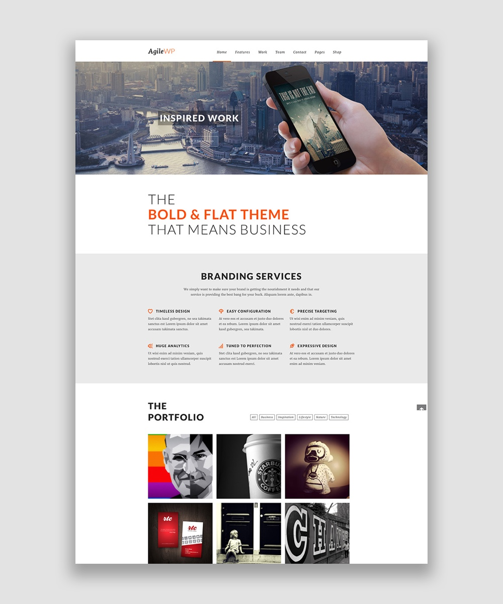 Agile WordPress Theme by Livemesh