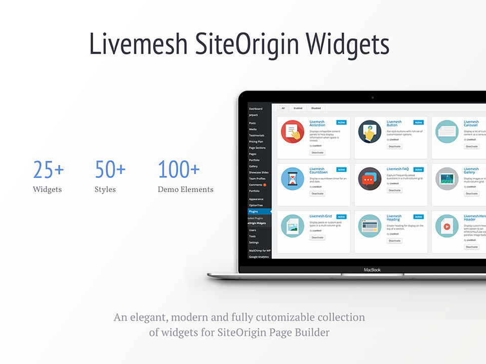 Livemesh SiteOrigin Widgets