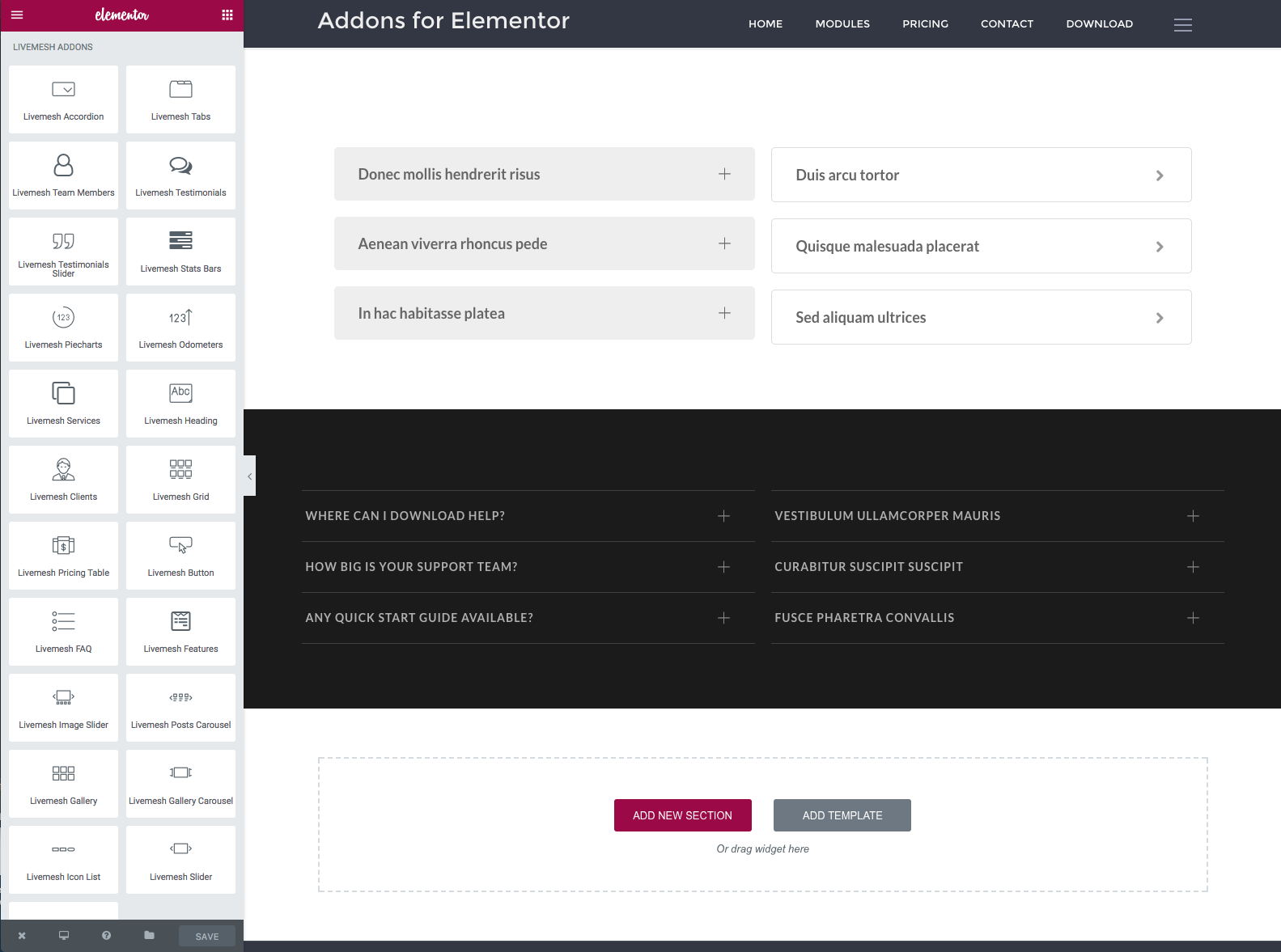 Page Builder Addons from Elementor