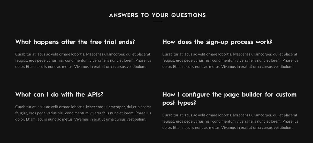FAQ Element
