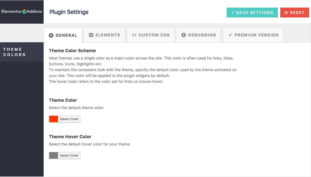 Livemesh Addons for Elementor Settings