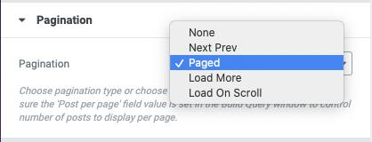 Posts Grid Pagination Options