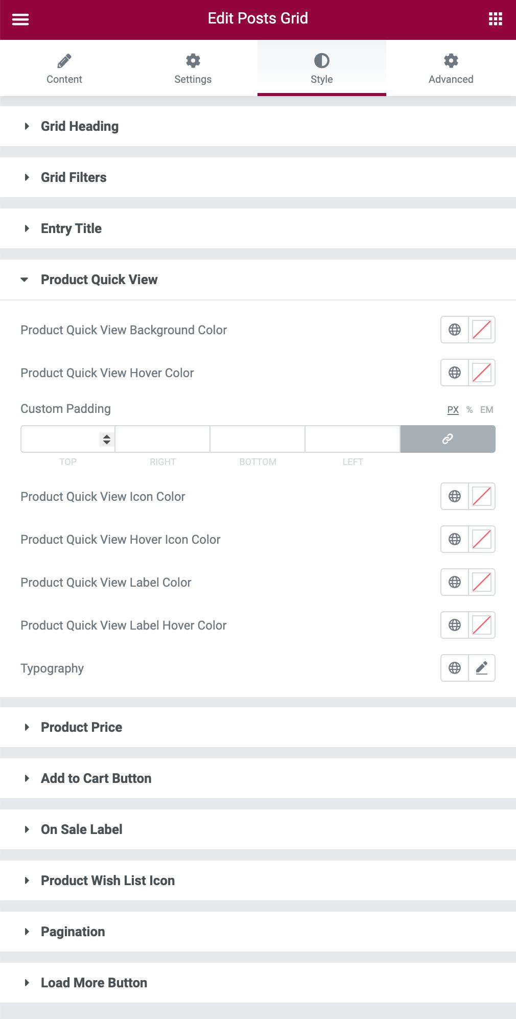 WooCommerce Grid Styling